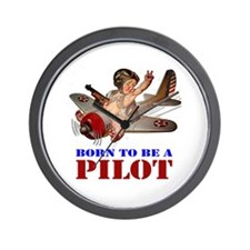 BORN TO BE A PILOT Wall Clock