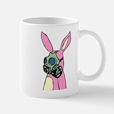 Pink Bunny Rabbit Gas Mask Coffee Mug