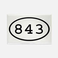 843 Oval Rectangle Magnet