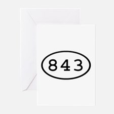 843 Oval Greeting Cards (Pk of 10)