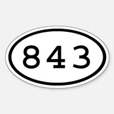 843 Oval Oval Decal