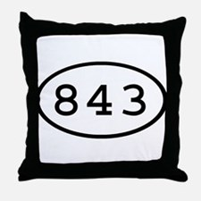 843 Oval Throw Pillow