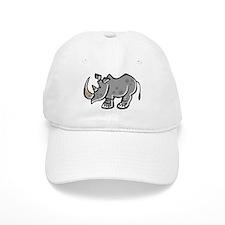 Cute Cartoon Rhinoceros Baseball Cap