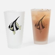 Striped Angel Fish Drinking Glass