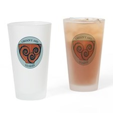 Groovy And Glazed Drinking Glass