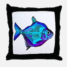 Silver Dollar Fish Throw Pillow