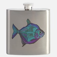 Silver Dollar Fish Flask