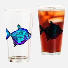 Silver Dollar Fish Drinking Glass