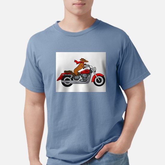 Dachshund on Motorcycle T-Shirt