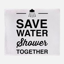 Save Water Shower Together Throw Blanket