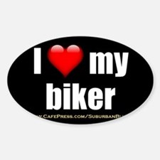 Unique Biker gang Sticker (Oval)