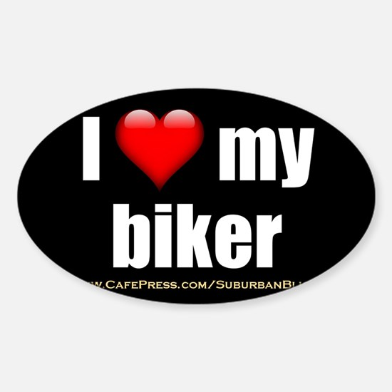 Cute Bike helmet Sticker (Oval)