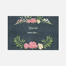 Vintage Roses Rectangle Magnet
