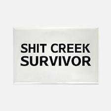 Shit Creek Survivor Magnets