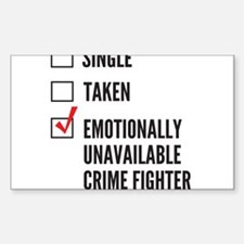 Single Crime Fighter Decal