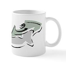 Abstract Hammerhead Shark Mugs