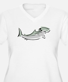 Abstract Hammerhead Shark Plus Size T-Shirt