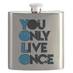 YOLO Blue Flask