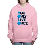 YOLO Blue Women's Hooded Sweatshirt