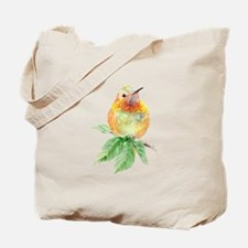 Rufous Hummingbird Watercolor Bird Nature Art Tote