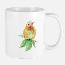 Rufous Hummingbird Watercolor Bird Nature Art Mugs