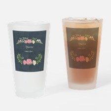 Vintage Roses Drinking Glass