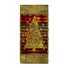 Metal Art Holiday Tree Beach Towel