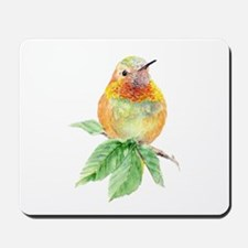 Rufous Hummingbird Watercolor Bird Nature Art Mous