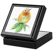 Rufous Hummingbird Watercolor Bird Nature Art Keep