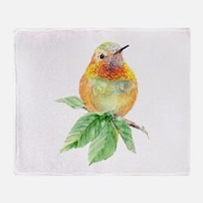 Rufous Hummingbird Watercolor Bird Nature Art Thro