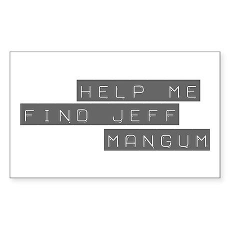 Jeff Mangum Rectangle Sticker