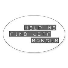 Jeff Mangum Oval Decal