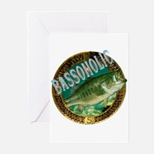 Bassoholicbass fishing gift Greeting Cards (Packag
