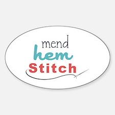 Mend Hem Stitch Decal