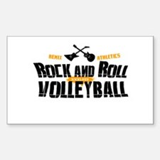 Rock and Roll Volleyball Rectangle Decal