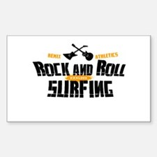 Rock and Roll Surfing Rectangle Decal