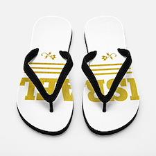 vintage golden Israel since 1948 Flip Flops