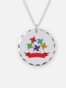 Pinwheel Banner Necklace