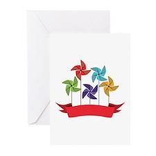 Pinwheel Banner Greeting Cards