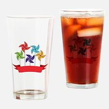 Pinwheel Banner Drinking Glass