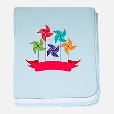 Pinwheel Banner baby blanket