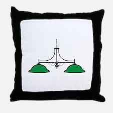 Billiard Lamps Throw Pillow