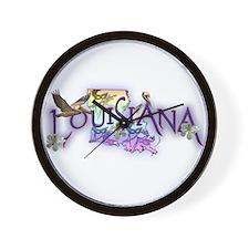Louisiana Wall Clock
