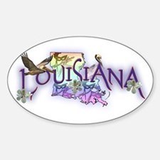 Louisiana Oval Decal