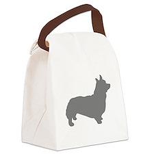 corgi gray 3 Canvas Lunch Bag
