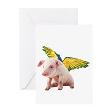Pigs Fly Greeting Cards