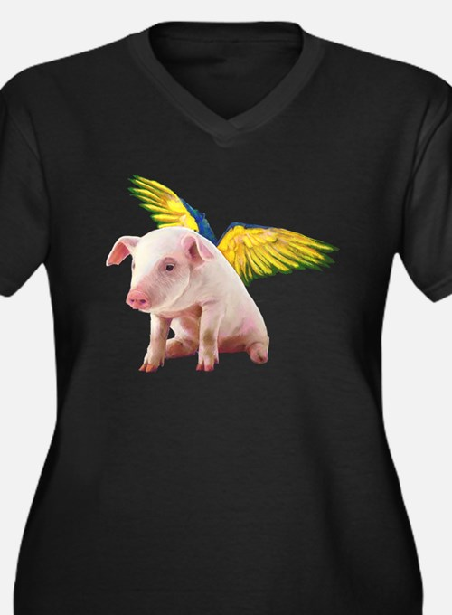 Pigs Fly Plus Size T-Shirt