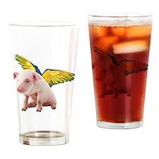Cute Wishing angels Drinking Glass