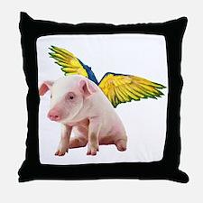 Cute Wishing angels Throw Pillow