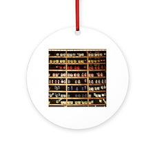 Artists Paint Shelves Round Ornament